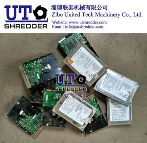 China Waste Electronic Products crusher / E Scrap Shredder/ E- waste/ Two Shaft Shredder/ E- waste shredder/ hard disk crusher on sale