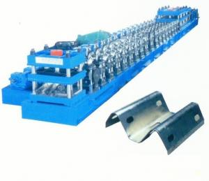 China Gear Box Transmission Guardrail Roll Forming Machine Punching Press Automatic cutting on sale