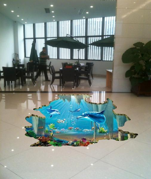 Custom stickers 3d floor stickers floor sticker digital printing images