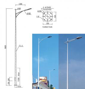 China Square High Mast Light Pole Steel Warn 25m 30 Meter Galvanized Street Light Pole on sale
