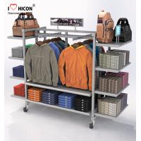 Flooring Gondola Retail Display Shelving Metal 4 - Way Hanging Apparel Display Rack