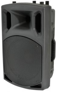 China Plastic Body Portable Trolley Speakers With Rechargeable Battery And Wireless Microphone on sale