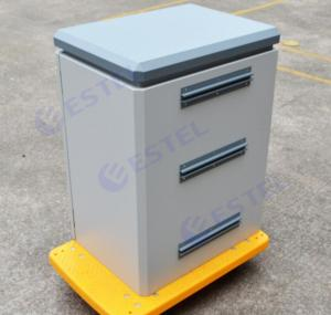 Single Wall Steel Outdoor Pole Mount Cabinet Power