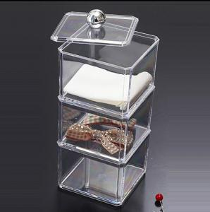 China Large Decorative Clear Acrylic Storage Boxes With Lids For Home on sale