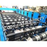 Roof Tile / Roof Panel Roll Forming Machine Panasonis PLC Control