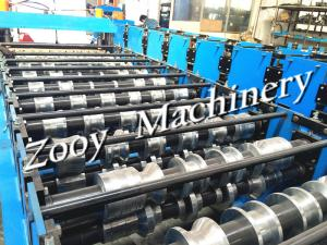 China Roof Tile / Roof Panel Roll Forming Machine Panasonis PLC Control on sale