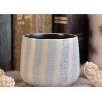 China Interior Ceramic Candle Holders 439Ml Pearl Glazed External Black Glazed on sale
