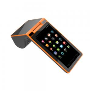 China 7 inch android handheld billing pos termianl with built-in printer on sale