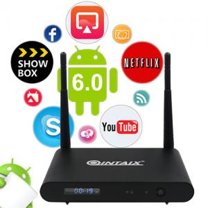China QINTAIX Smart TV Box android tv streaming box 4K WiFi Media Player Google Netflix Youtube 3G32G Set Top BOX on sale