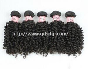 China Factory Price 100 Persent Virgin Remy Hair 6A Indian Curl Hair Weaving on sale