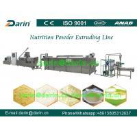 Nutrition Grains Rice Powder Food Extruder Machine / Production Line