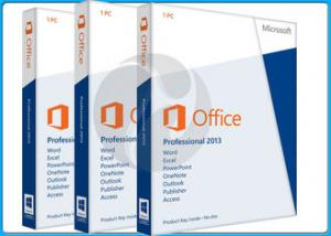 China 32 Bit / 64 Bit Microsoft Office 2013 Professional Software retailbox on sale