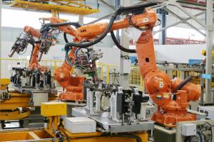 China Customized Robotic Welding Systems With Spot Welding Fixture For Automotive Parts on sale