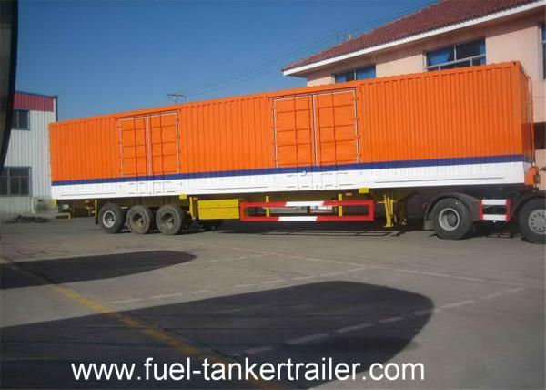 b9a496f0f2 3 Axle Dry Van Cargo Box Enclosed Trailer   Curtain side semi trailer Images