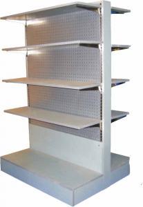 China wire mesh back supermarket display rack on sale