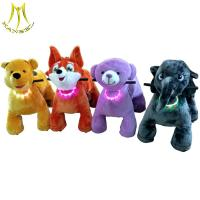 Hansel shopping animal from china and animal electric bike for mall with toy animal plush rider horse