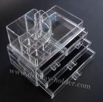 Organizador plástico de acrílico claro de la belleza del caso del maquillaje