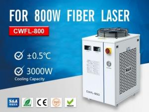 China Dual Cooling Circuit Water Chillers CWFL-800 With CE Approval For Cooling Fiber Lasers on sale
