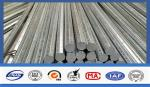 Silver Galvanized Steel Electrical Power Pole For Transmission Galvanized Line