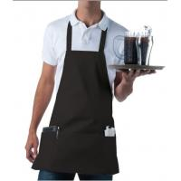 100% Cotton Chef Kitchen Aprons With Pockets Quick Dry Wrinkle Resistance