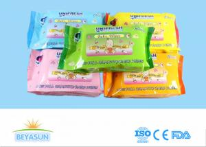 China Private Label Flushable Wet Wipes For Adults , Disposable Non Toxic Flushable Wipes on sale