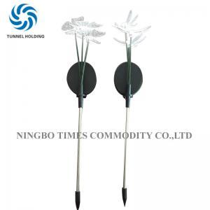 China Outdoor Solar Led Angel Garden Stake Light , Brightness Solar Flower Lights on sale