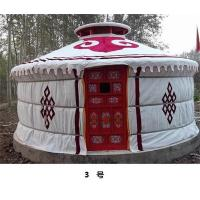 China Anti - Snow Yurt Style Camping Tent ,  Heat Preservation Mongolian Nomad Tent  on sale