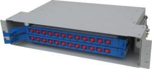 Quality 24 Aço laminado a frio de núcleos ODF CATV montável em Rack Fiber unidade caixa for sale