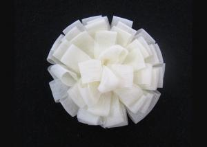 China 8.5cm Cream Wedding Corsage Flowers Party Woman Flower Brooch Hair Fascinator 6pcs / lot on sale