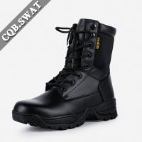 Anti-crack Mens Work Boots, Wholesale Long Riding Boots, Shoelace Lacing  System Rubber Boot