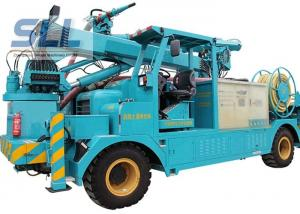 China Air Compressor Cement Pump Truck / Mechanical Arm Concrete Pumping Equipment on sale