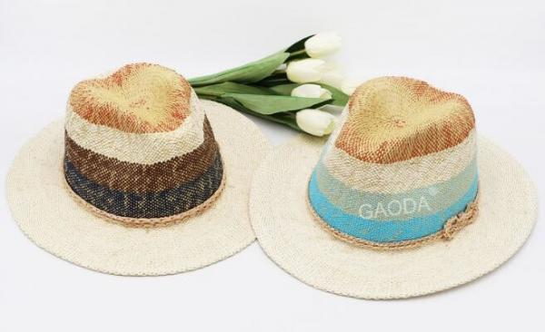 69d92e29aa380 Custom new ladies England hat jazz hat hand-woven paper straw hat big along  Images