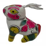 clay sculpture Chinese Zodiac business gift  painted rabbit birthday gift