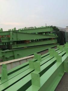 China 構造スチールの I型梁の U チャンネルを塗るカスタマイズされた緑 H セクション on sale