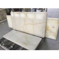 Cream Onyx Natural Marble Tile / Cream Marble Floor Tiles Onyx Type For Floor