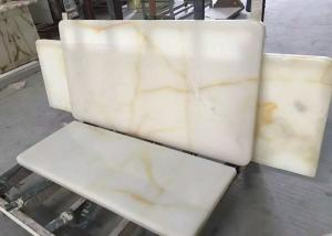 China Cream Onyx Natural Marble Tile / Cream Marble Floor Tiles Onyx Type For Floor on sale