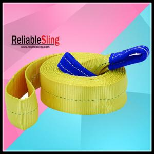 China CE / GS Approved Heavy Duty Tow Straps 3 TON High Tenacity Polyester on sale
