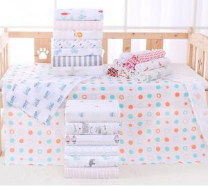 China Printed Pattern Multi Functional Baby Cotton Bath Towels 140g Weight Of Fabric on sale
