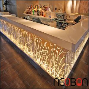 Quality Manufacturer Acrylic Stone Night Club Bar Counter/Modern Artificial Bar  Counter LED/home ...