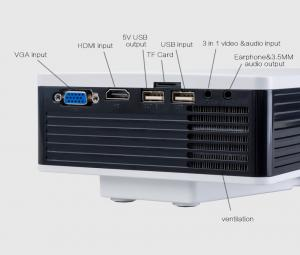 China 800*480 Mini LED Home Theater Projector / Android Movie Projector White Color on sale