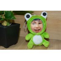 China Customization Frog DIY 3D Photo Face , Stuffed Plush 3D Face Dolls on sale