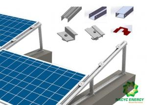 China Silver Solar PV Flat Roof Mounting Systems For Residential Pitched Roof on sale