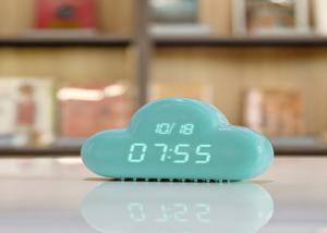 China Battery Operated Led Cloud Night Light Sound Control With Electronic Calendar on sale