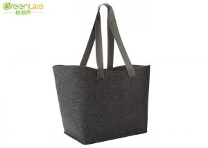4c15bbe3ef8a ... Quality Large 100% Felt Polyester Tote Bags Dark Grey With PP Webbing  Long Handles for