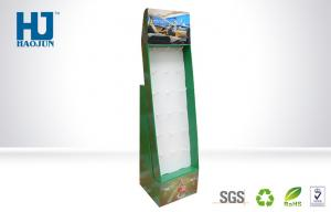 China ECO - Friendly Green Cardboard Hook Display For Car Perfume , Corrugated Paper Shelf on sale