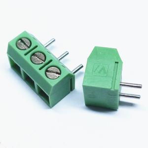 China PCB screw wire to board terminal blocks 5.00/5.08mm ptch vertical through hole dip type on sale
