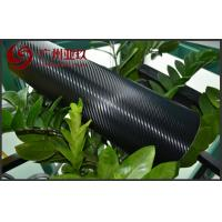 Black Big Textured Carbon Fiber Vinyl Sheet With Air Free Bubbles , 1.52*30m