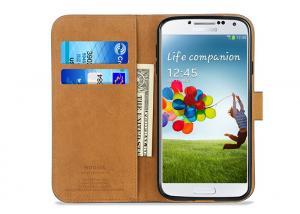 China Thinnest Black Samsung Leather Case / Samsung Galaxy S4 Flip Case Waterproof on sale