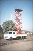 China Trailer Mounted Aerial Lifts , Scissor Lift Platform For Building Maintaining on sale