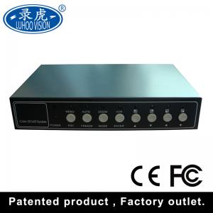 China Remote Control 4 Channel Quad Multiplexer , Custom Cctv Quad Video Processor on sale